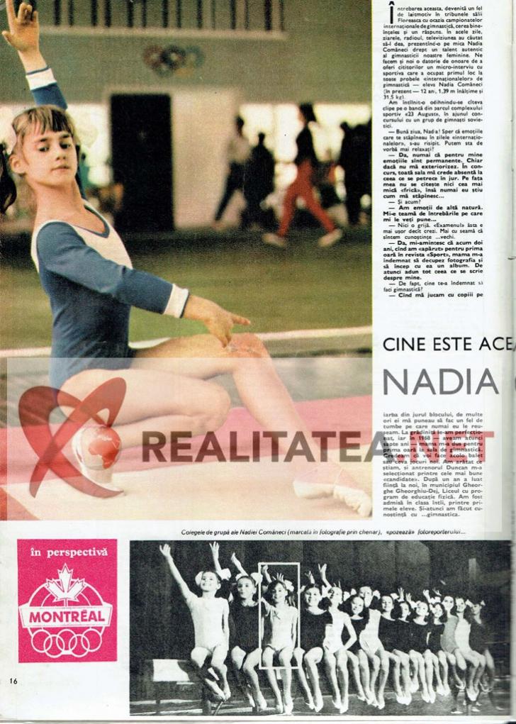 Cel de-al treilea material cu Nadia Comaneci aparut in revista Sport (martie 1973). Arhiva: Cristian Otopeanu