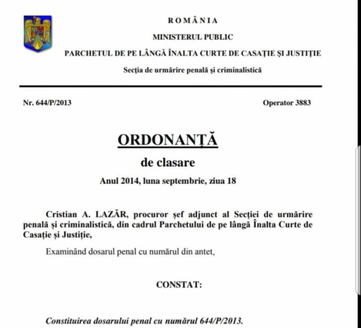 """Detaliul compromiţător pentru Iohannis în ordonanţa de clasare semnată de """"alt Lazăr"""""""