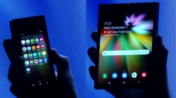 """Primul smartphone cu ecran pliabil de la Samsung ar putea avea un preţ """"colosal"""""""