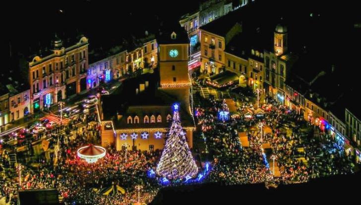 Când se aprind beculețele de Crăciun în Brașov
