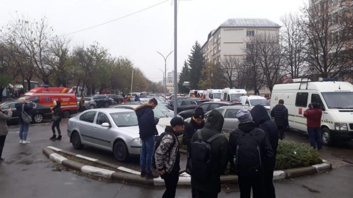 Evacuare de urgență la Universitatea Petrol şi Gaze din Ploiești