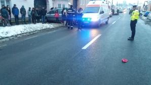 Realitatea de Sibiu: Două fetiţe, lovite de o maşină, pe DN14