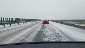 ATENȚIE șoferi! Fenomen meteo extrem de periculos pe Autostrada Soarelui