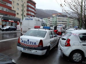 Jaf ca-n filme, la Brașov. Un BANCOMAT a fost aruncat în aer