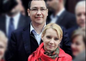 Victor Ponta, alături de Daciana, soția sa - europarlamentar la Strasbourg