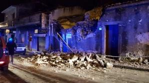 Sicilia, lovită de o erupție și de cutremure