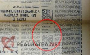Ziarul Sportul din 23 mai 1968. Arhiva: Cristian Otopeanu