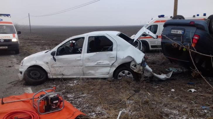 Accident grav între Tortomanu și Siliștea. 5 victime și două mașini făcute praf