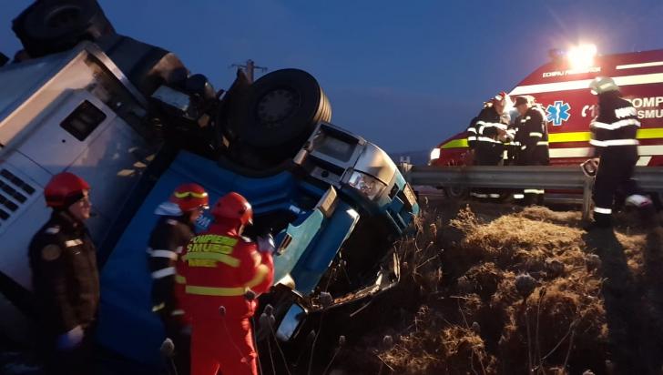Accident mortal pe DN 7. N-a avut nicio șansă