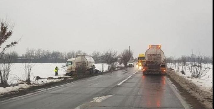 Șoferul unui autotren cisternă a făcut infarct la volan. Au urmat clipe de coșmar