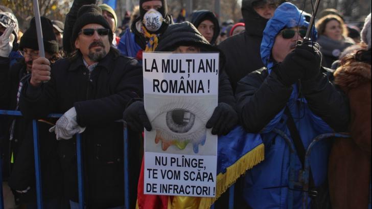 Protest la adresa Jandarmeriei