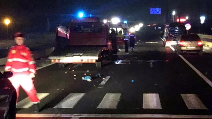 Un om al străzii a murit, în apropiere de Craiova, după ce a fost lovit pe trecerea de pietoni