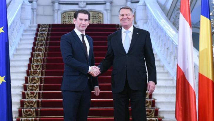 Sebastian Kurz, alături de președintele Klaus Iohannis