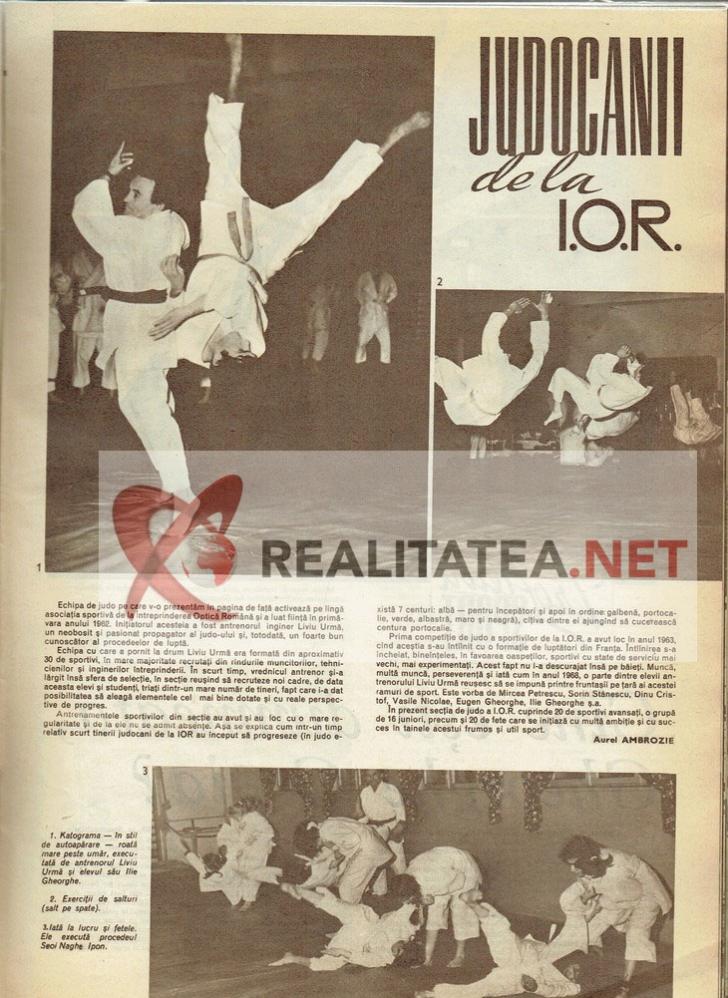 Revista Sport din martie 1969. Arhiva: Cristian Otopeanu