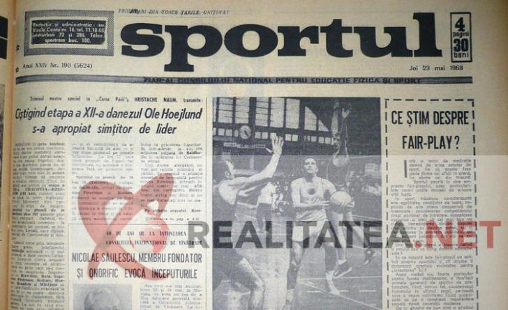 Articol sportiv din ziar