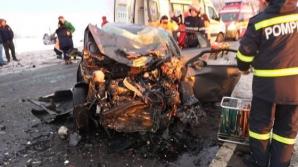 Accident grav în Giurgiu. Trei autoturisme s-au ciocnit, un tânăr a murit