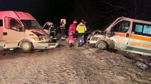 Accident grav în Gorj cu o ambulanţă care transporta un pacient
