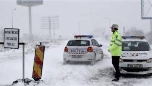 Circulaţia închisă pe două sectoare ale autostrăzilor A3 şi A2 din cauza poleiului