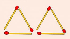 Problema triunghiurilor. Cum poate fi rezolvată din doar două mişcări?