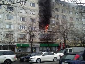 Incendiu bloc Timișoara