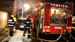 Incendiu violent la Călăraşi: Un bar, mai multe autoturisme, un service auto, făcute scrum
