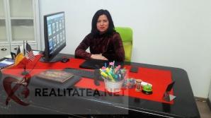 Maria Mihaela Nistor, la biroul său de la EDP, din strada Spiru Haret din Bucureşti. Foto: Cristian Otopeanu