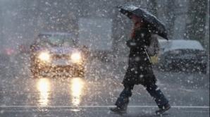 Ploaie, lapoviță și, temporar, ninsoare în București