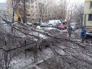 Ploaia inghetata a facut ravagii in Capitala. In imagine, strada Padesu, din sectorul 4