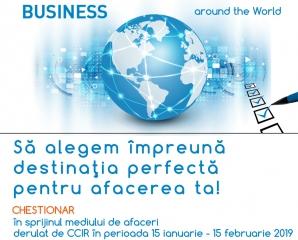 CCIR inițiază un chestionar în sprijinul antreprenorilor români