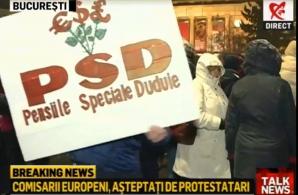 Protest la Ateneul Român