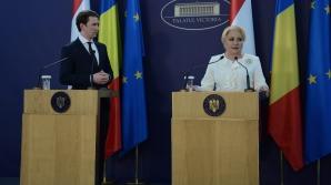 Sebastian Kurz, la întâlnirea cu Viorica Dăncilă