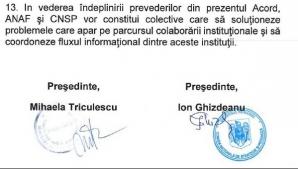 Acord între ANAF și Comisia de prognoză
