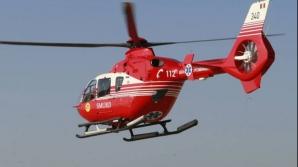 Atacat de câine, adus cu elicopterul SMURD