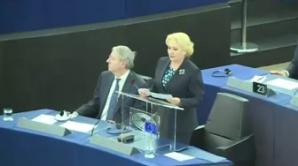 Preda, lui Dăncilă, în PE: În momentul în care discutaţi, în țară, un post TV are emisia suspendată