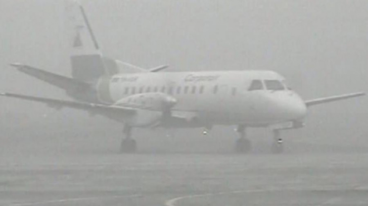 Două curse anulate pe Aeroportul Sibiu din cauza ceții