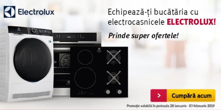 Altex - Promotie speciala pentru electrocasnicele Electrolux