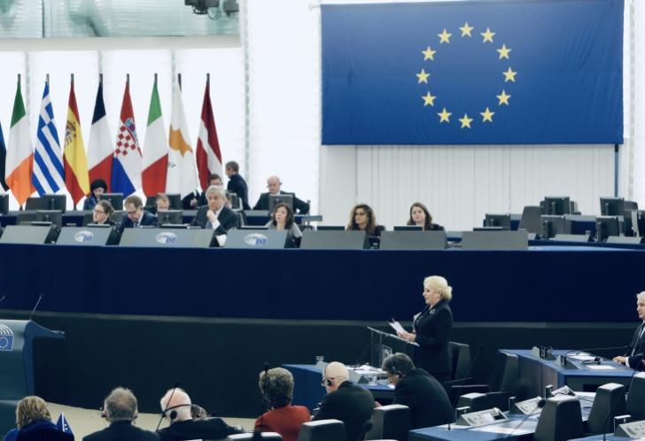 Viorica Dăncilă, anunț despre amnistie, în Parlamentul European / Foto: gov.ro