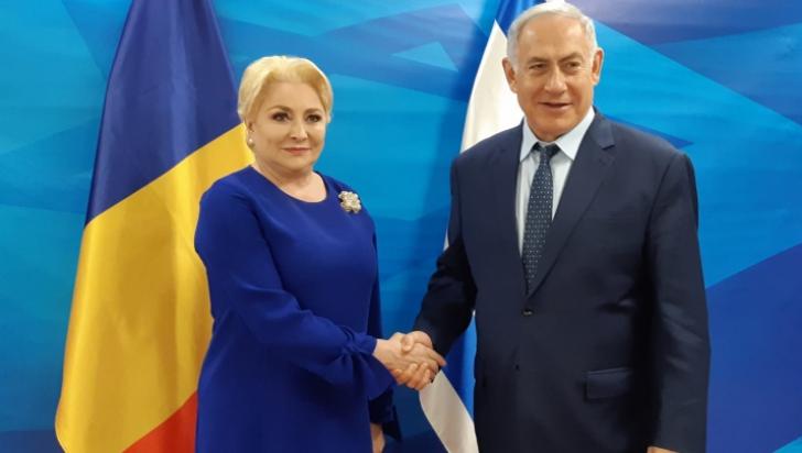 Viorica Dăncilă, alături de Benjamin Netanyahu