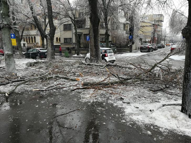 Imagini apocaliptice în București