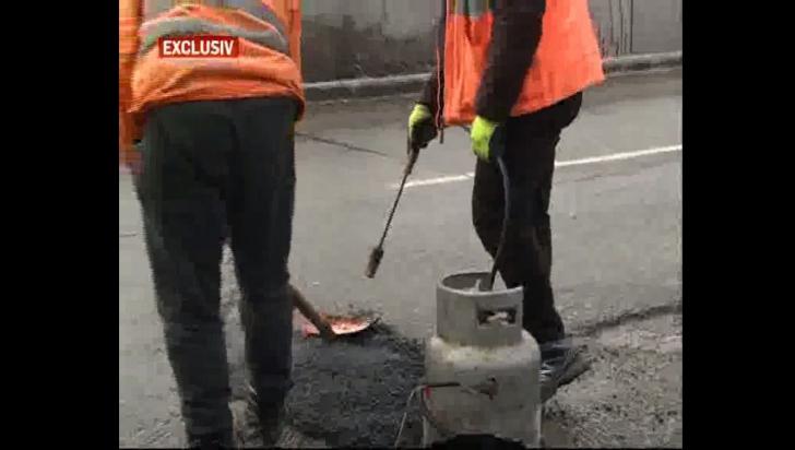 Made in România. Priviți cum se asfaltează în 2019, la zero grade! Dialog halucinant