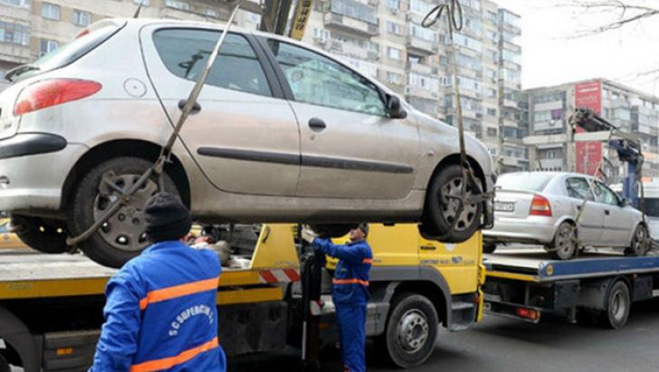 Masini ridicate în Bucuresti
