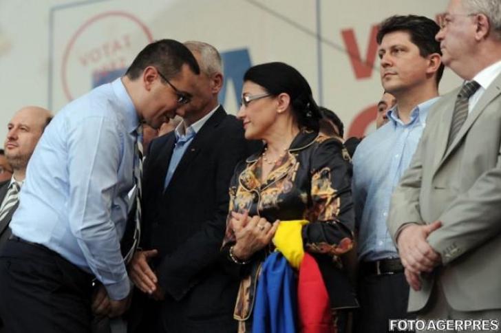 Ecaterina Andronescu îi regretă pe Victor Ponta şi Mihai Tudose