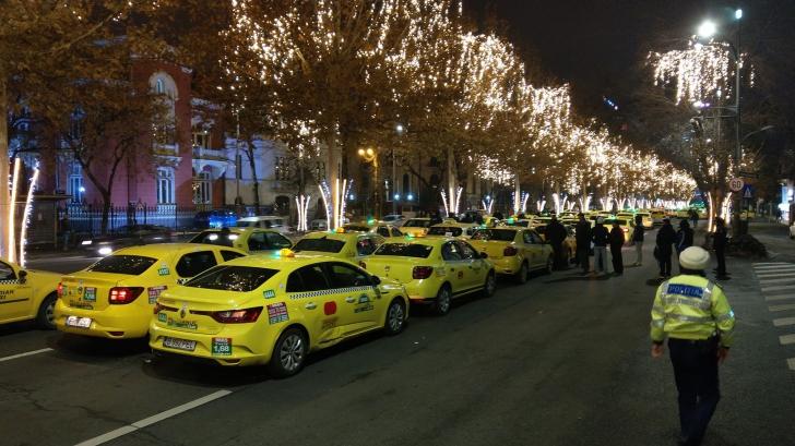Dosar penal după protestul taximetriștilor de luni seară