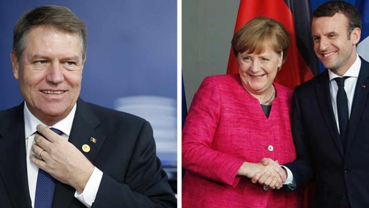Klus Iohannis, la semnarea unui tratat între Germania și Franța