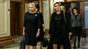 Viorica Dăncilă și Lia Olguța Vasilescu la CEx