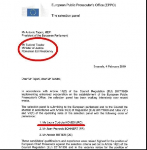 Kovesi, prima pe lista pentru Procuror european