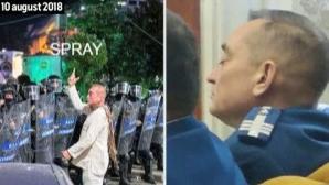 """Cătălin Paraschiv, """"fantoma în alb"""" de la protestul din 10 august, doarme la bilanţul Jandarmeriei"""