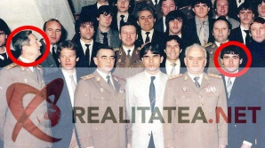 Fotografie-document! Hagi (dreapta, încercuit) și Victor Atanasie Stanculescu (stânga, încercuit), în 1987. Arhivă: Cristian Otopeanu