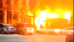 Panică în Caracal. Un incendiu de proporţii a izbucnit în centrul oraşului