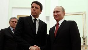 Matteo Renzi, alături de Vladimir Putin